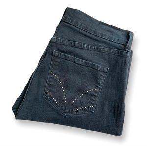 NYDJ Black High Rise w/Studded Back Pockets 12P